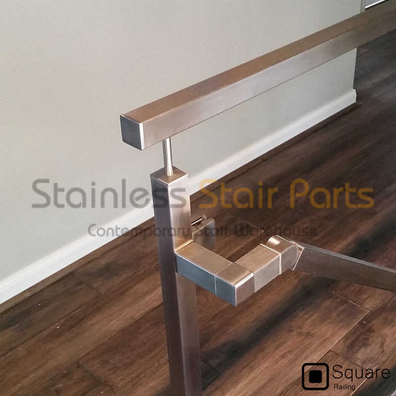 Contemporary stainless steel stair parts