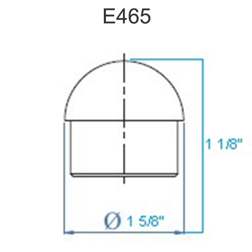 E465 Stainless Steel End Cap