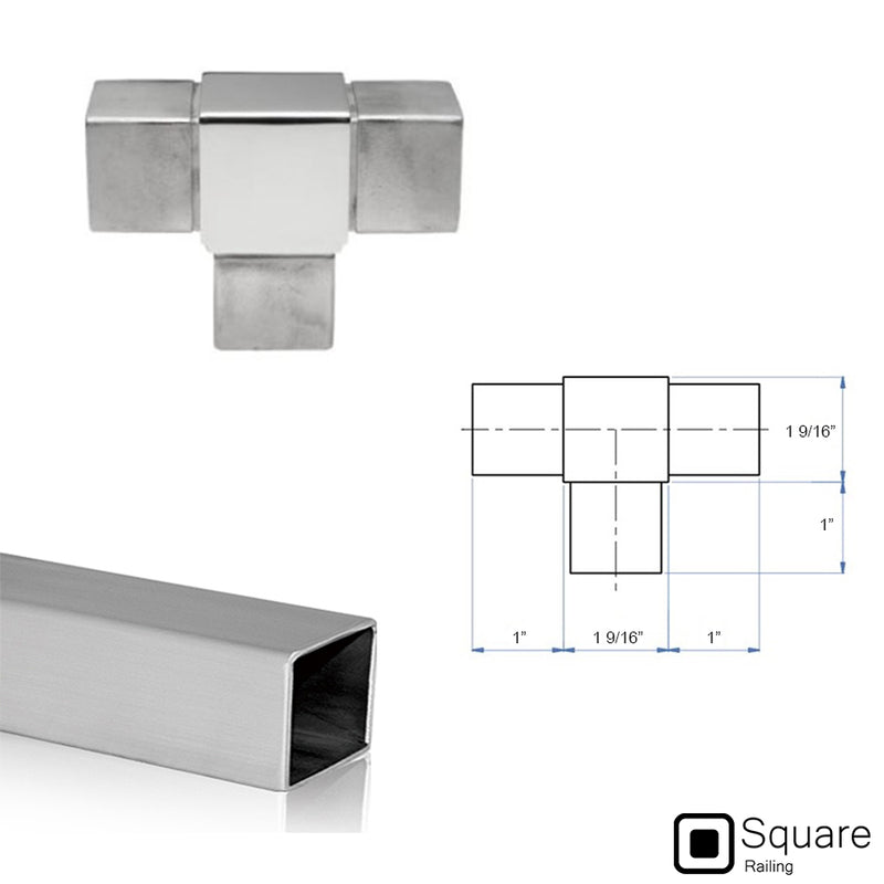 Stainless Steel Square Railing Fitting