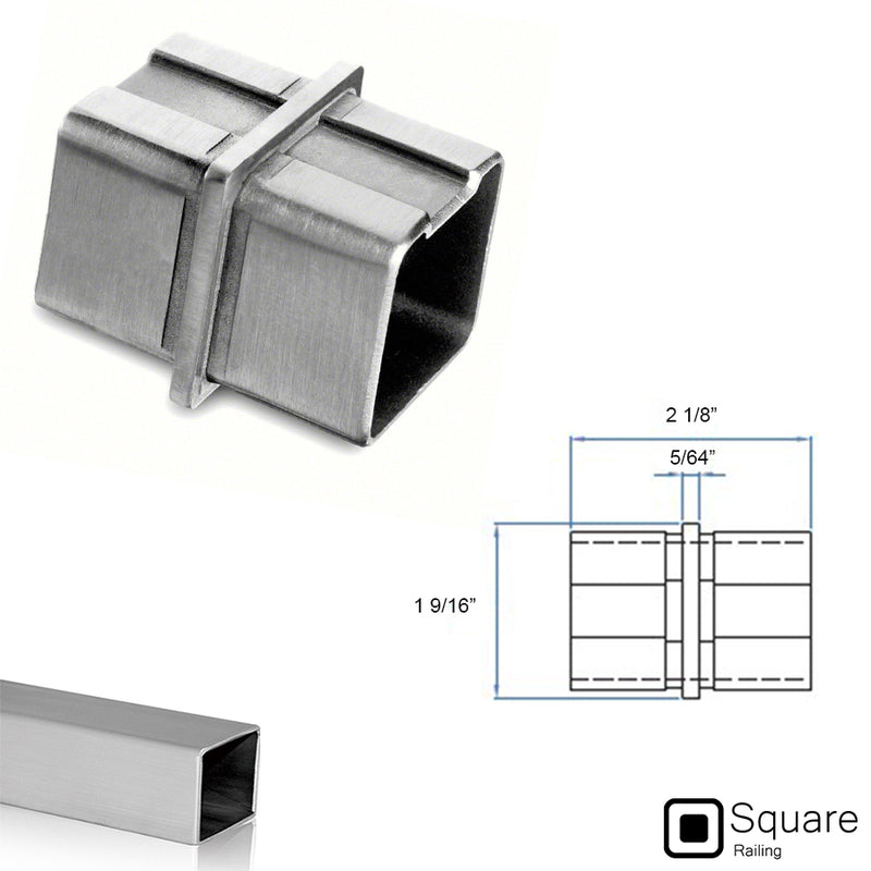 E4760 Square Stainless Steel Fitting Connector