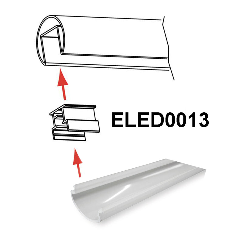 ELED0012 LED Strip Light Cover Stainless Steel Modern Railing