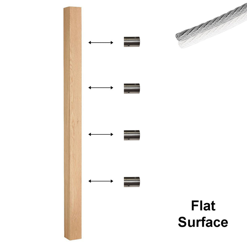 Modern Cable Support for Flat Surface Mount