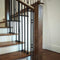 Contemporary Stainless Steel Wood Newel