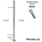 Modern Stair E0042-4 Pre-Drilled 4 Holes/Middle Stainless Steel Newel Post