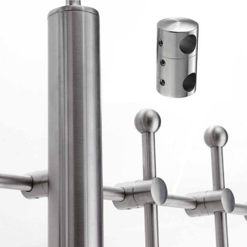 Double Stainless Steel Round Bar Holder