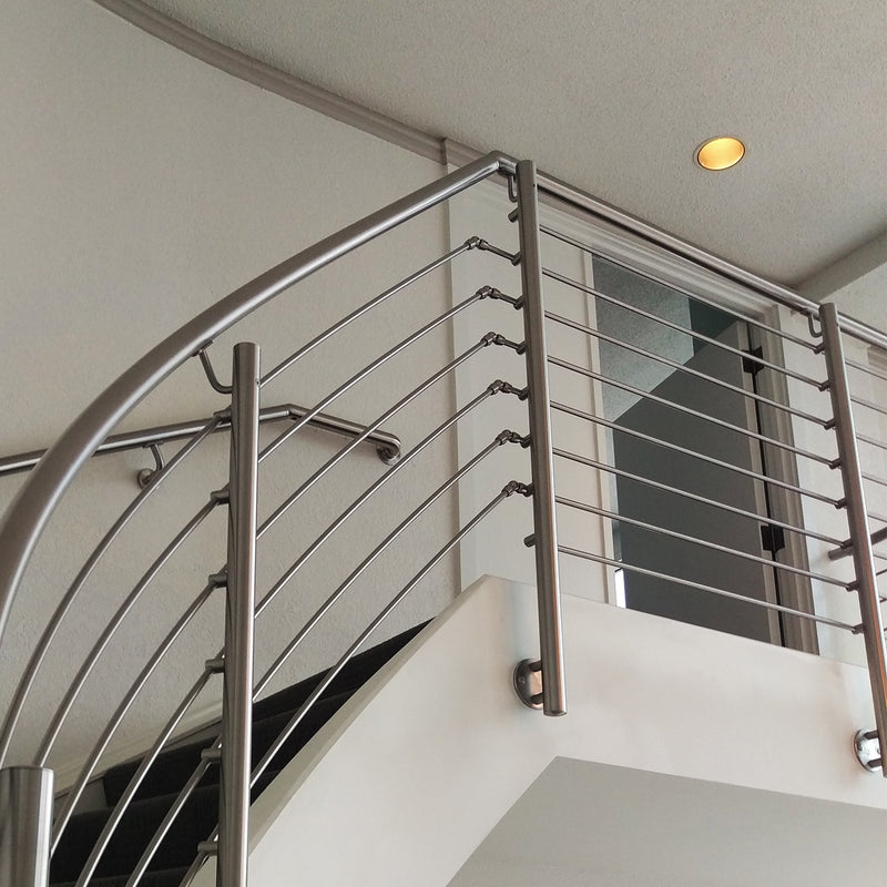 Stainless Steel Stair E0070 Pivotable Inline Round Bar Connector