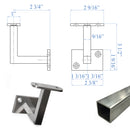 E036300 Contemporary Rigid Wall Rail Bracket