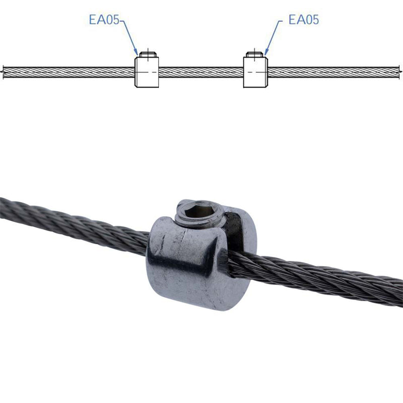 Stair Stainless Steel Wire Rope Cable Stopper
