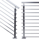 Contemporary Stainless Steel Stair Railing Flat Bar