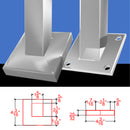 E0032/37/K Angled Knee Wall Square Stainless Steel Newel Post