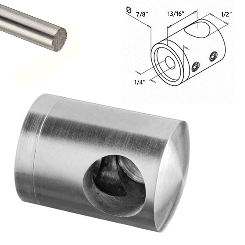 Stainless Steel Round Bar Holder Support