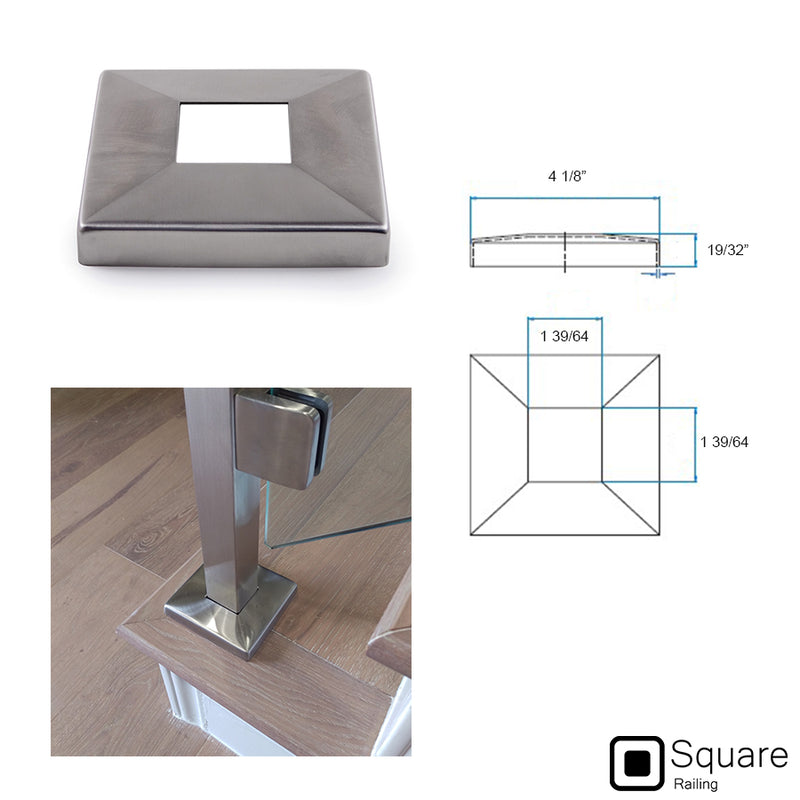 Stainless Steel Newel Post Square