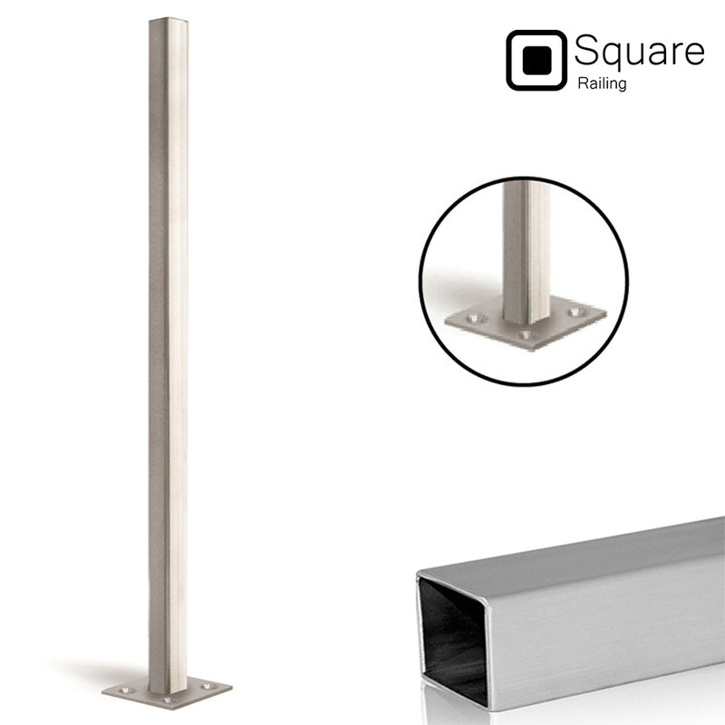 Modern Stainless Steel Square Newel Post