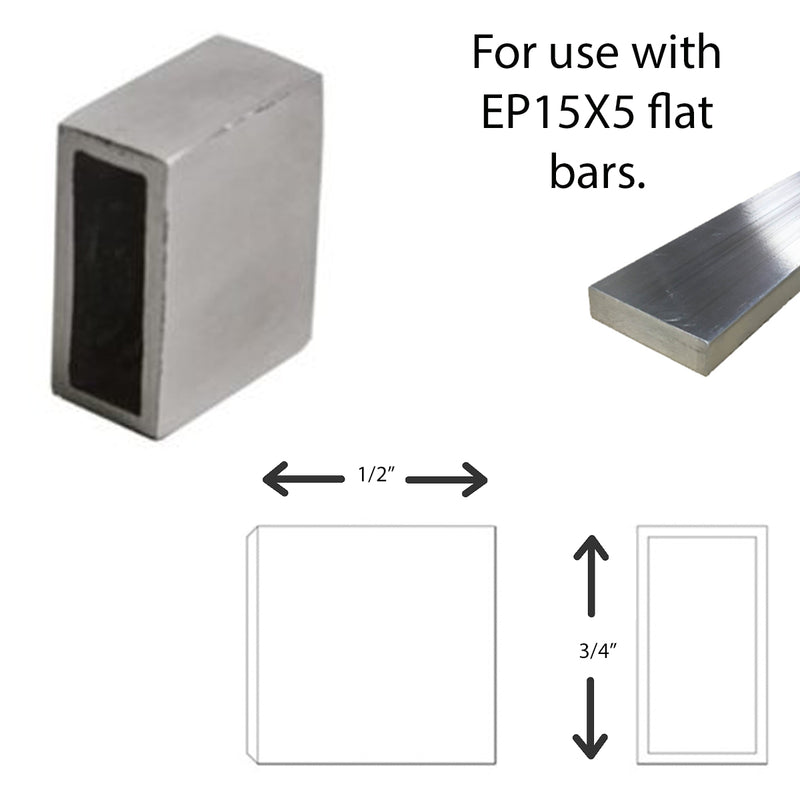 E036200 Stainless Steel Flat Bar End Cap