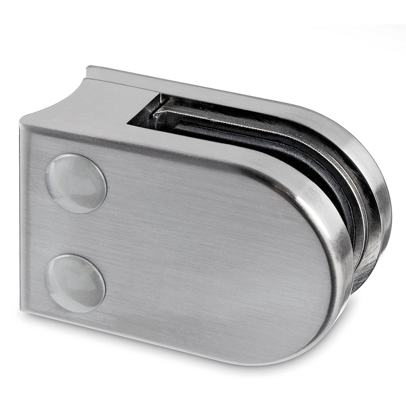 Stainless Steel Rounded Glass Clamp for Round Newel Post