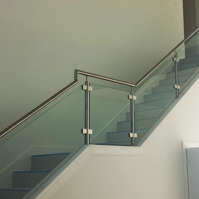 Contemporary Stainless Steel Newel Post