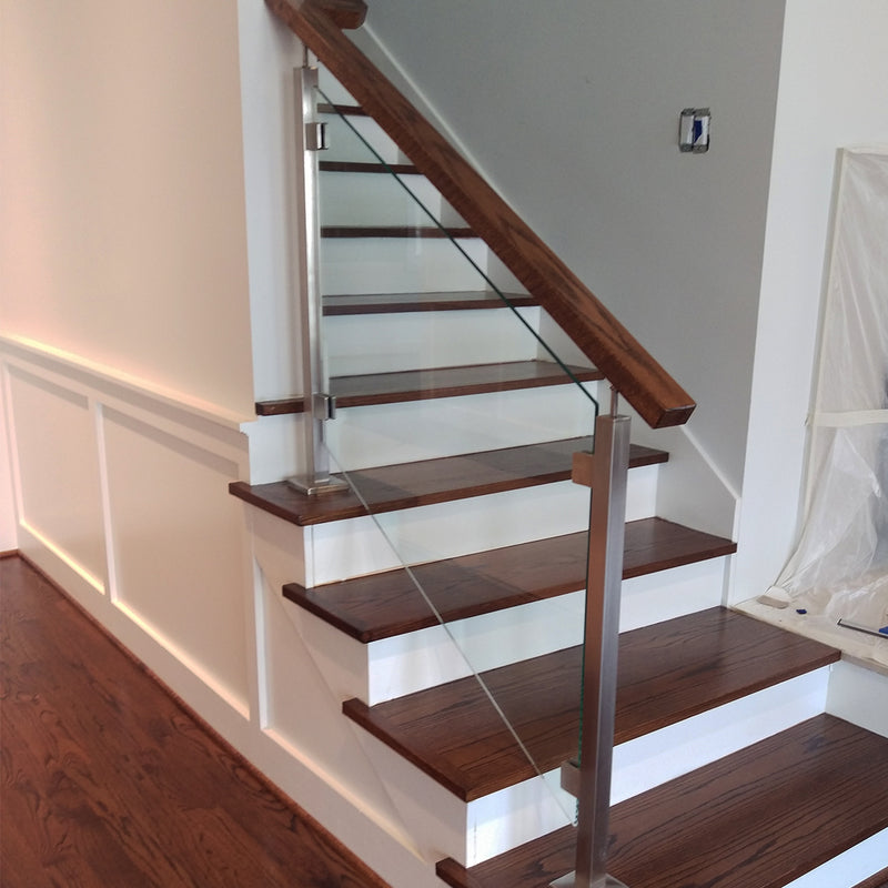 Glass Railing Clamps for Round Newel Post