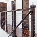 contemporary cable railing system with optional end cap included