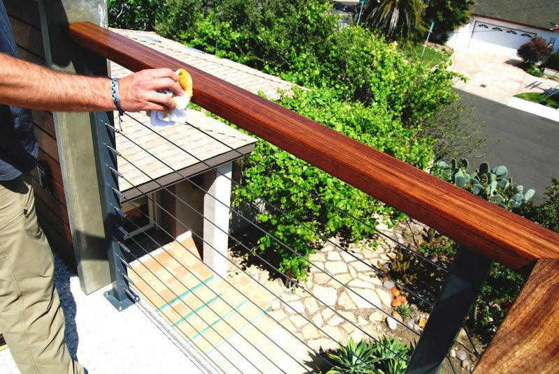 Stainless Steel Railing Cleaning