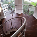 Contemporary Stainless Steel Staircase
