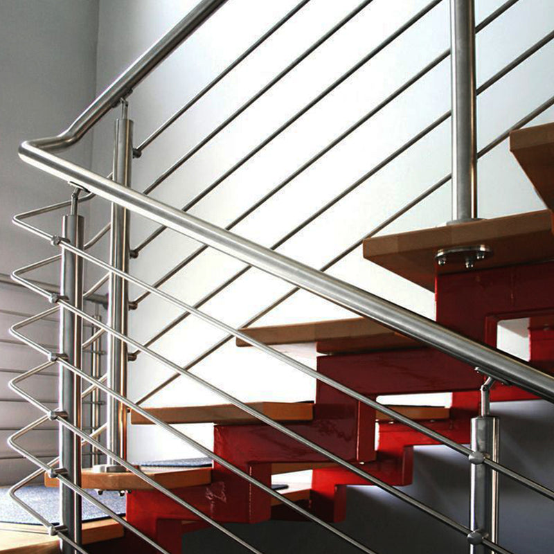 Modern Stainless Steel Stair Round Bar Holder