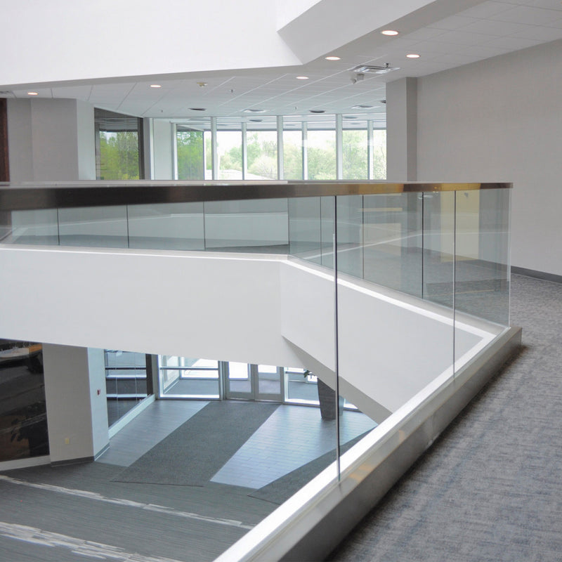 Modern Stainless Steel Glass Railing System