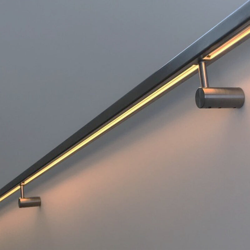 Modern Square Stainless Steel Glass Railing LED System