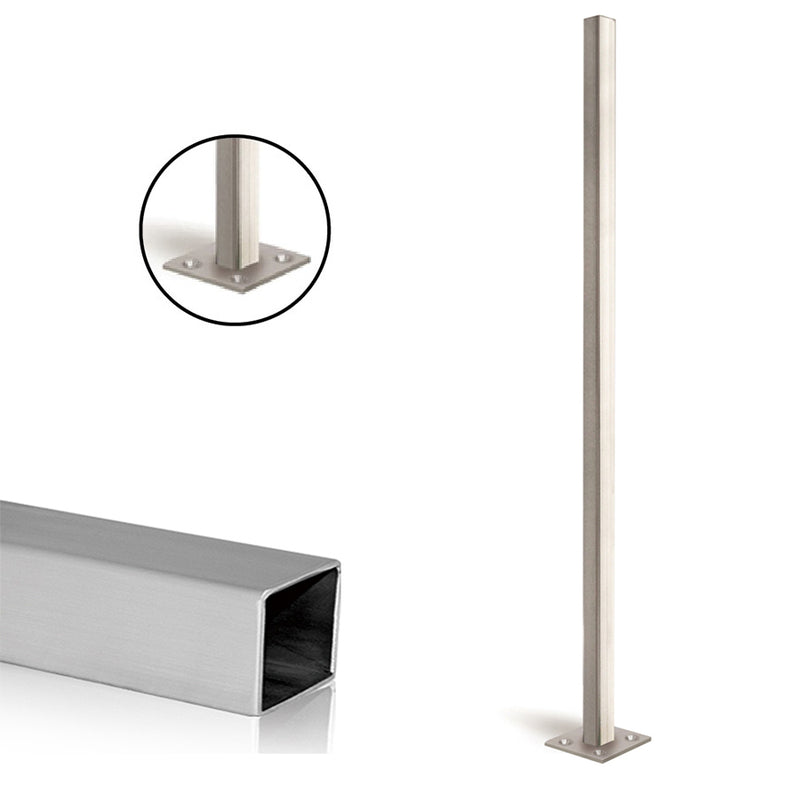 Stainless Steel E0032 Square Newel Post