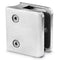 Stainless Steel Square Glass Clamp for Round Newel Post