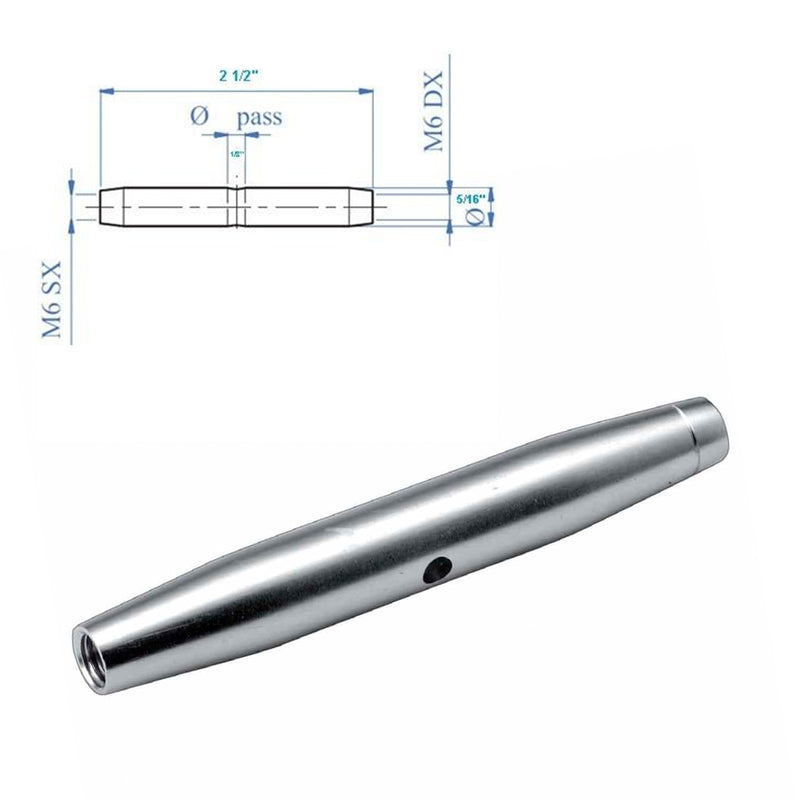 Stainless Steel Turnbuckle Cable Tensioner for Stair Railing