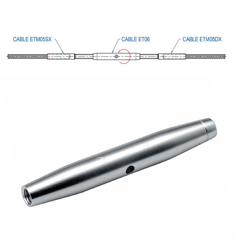 Stainless Steel Turnbuckle Middle Cable Tensioner Modern