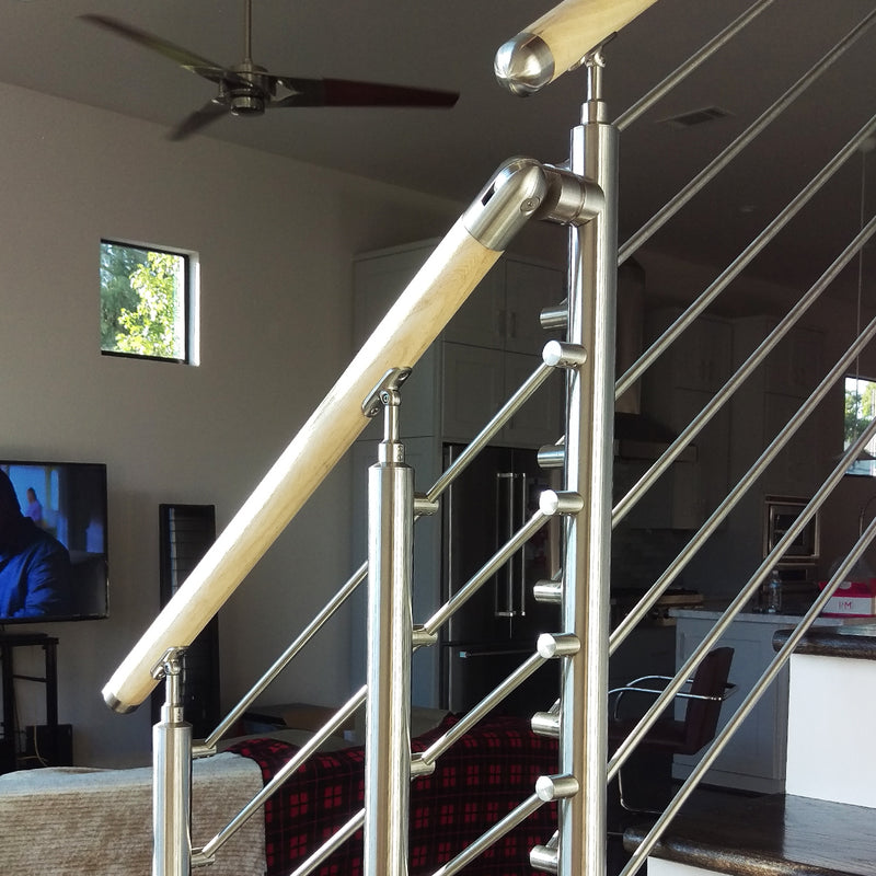 Modern Stair Railing System Stainless Steel