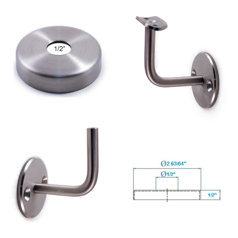 Stainless steel stair railing wall rail bracket cover