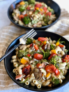 roasted veggie mac-n-cheeze  - gf