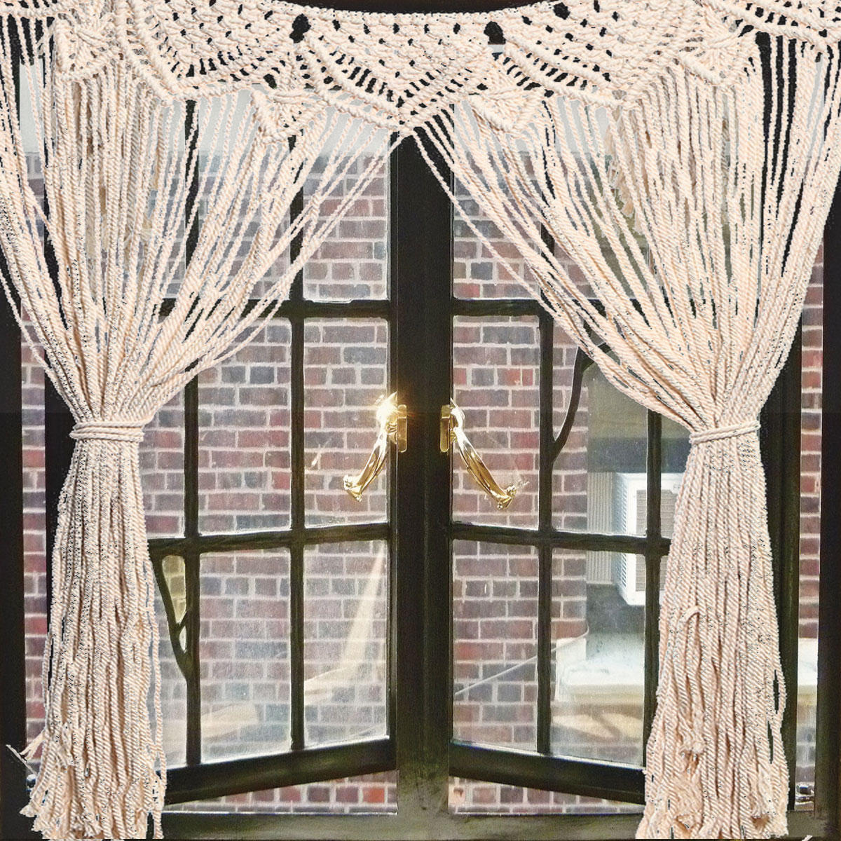 Macrame Wall Curtains Large Hanging Art Door Window Curtain Wedding Backdrop Tapestry - Markdown Mart