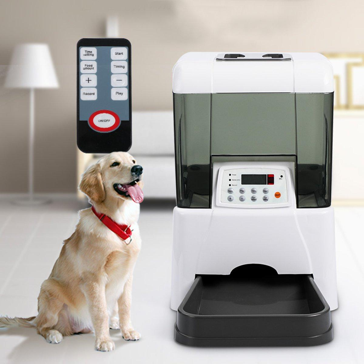 iSmartPet™ Automatic Pet Feeder with LCD display, Luxury Voice recorder and remote control!