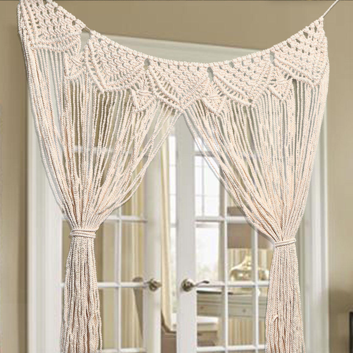 Macrame Wall Curtains Large Hanging Art Door Window Curtain Wedding Backdrop Tapestry