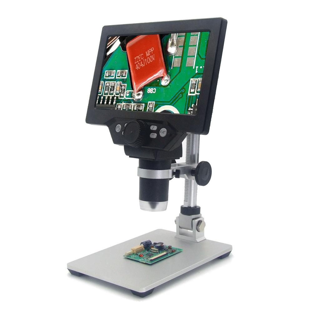 MicroTroniX™ LCD Digital Microscope 12MP 7 Inch Large Color Display Continuous Zoom Amplification