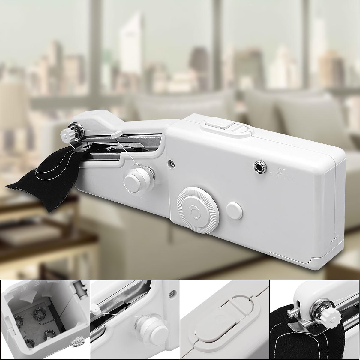SewMaster™ Sewing Machine Portable Mini Cordless Handheld Electric Stitching Tool for Fabric Kids Clothing