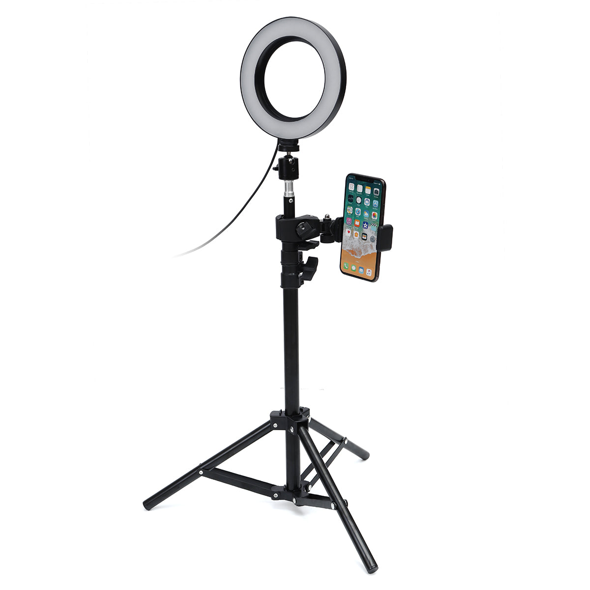 VlogLight™ LED Ring Light With Tripod And Phone Holder Dimmable