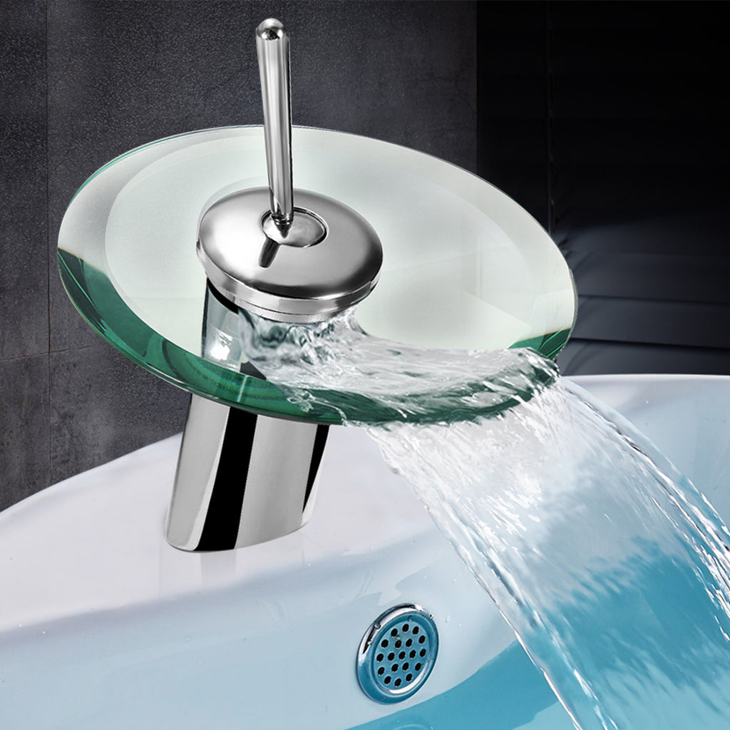 Vessel Sink Faucet Modern Style Round Waterfall Kitchen Bathroom - Markdown Mart