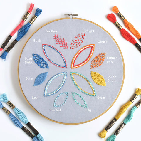 Cloud Craft free embroidery sampler