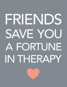Friends in Therapy Mini Metal Sign