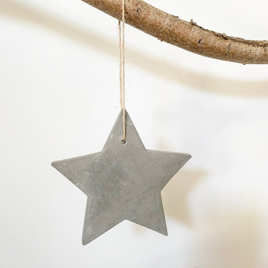 Cement Star Decoration, Medium