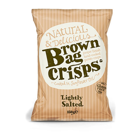 Brown Bag Lightly Salted Crisps 150g