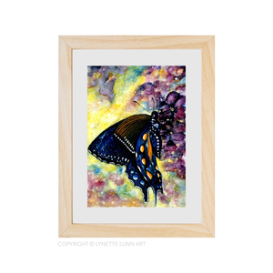 Lynette Lunn Art - Blue Butterfly