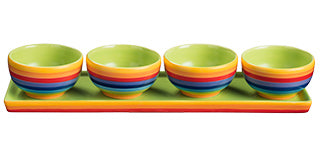 Rainbow Stripe set 4 Tapas Bowls