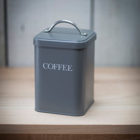 Coffee Canister in Charcoal - Steel