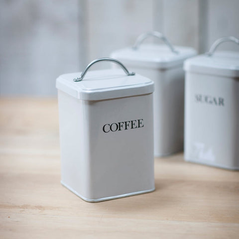 Coffee Canister in Chalk - Steel