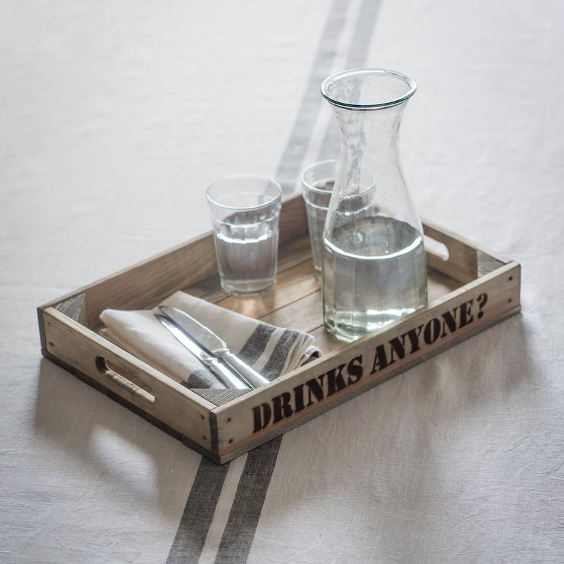 Wooden Drinks Anyone? Tray - Spruce